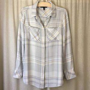 WHBM Neutral Flannel Shirt- SOFT!!